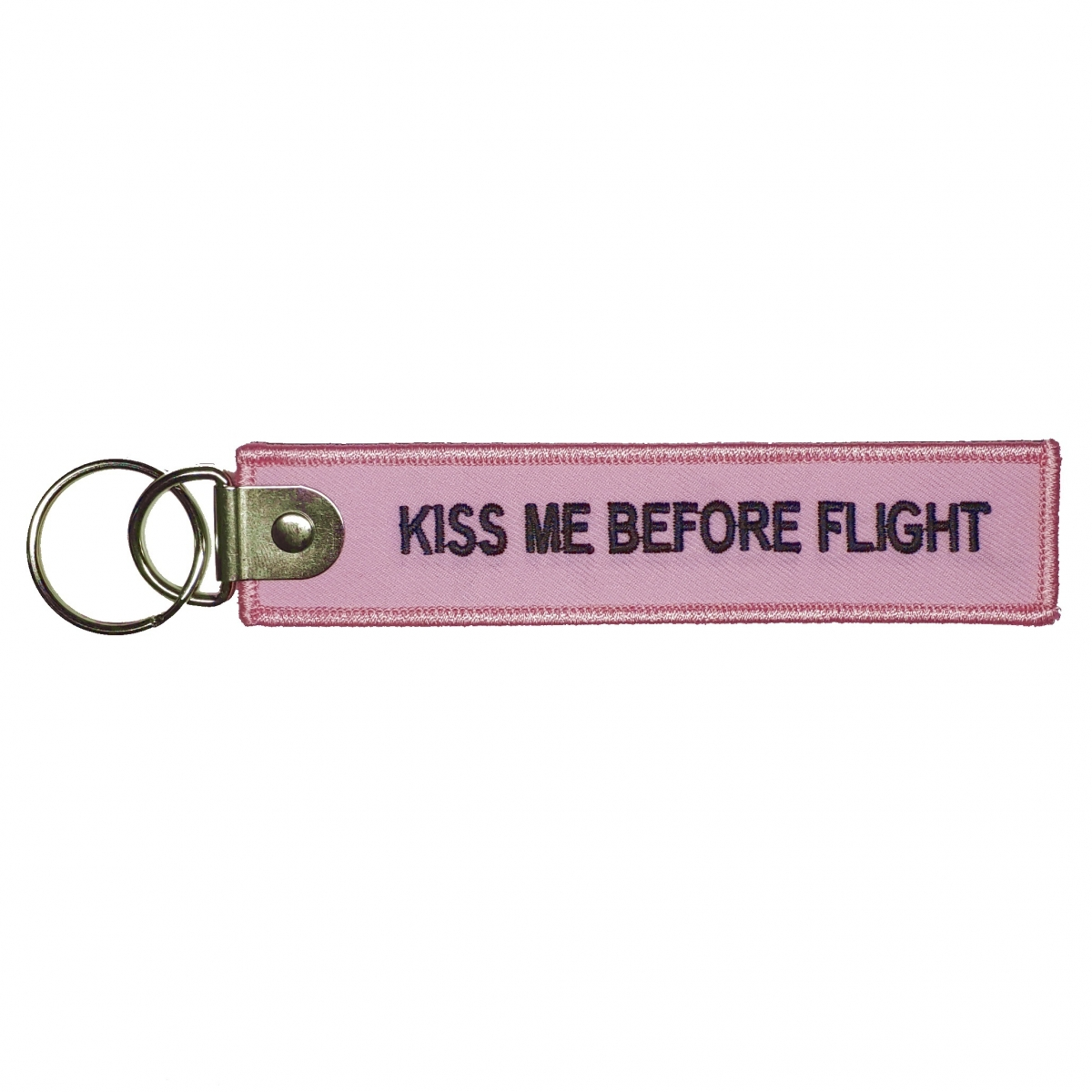 Брелок «Kiss me before flight» pink