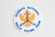 Шеврон « Russian National Rally Flying Team» , белый