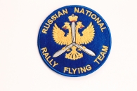 Шеврон « Russian National Rally Flying Team» , синий